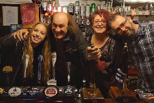 Maxine and some of the team from The Wheatsheaf
