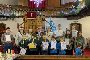Skegness District Scouts carol service and awards event.