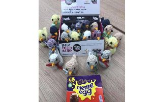 Knitted Easter chicks to raise money for CLIC Sargent