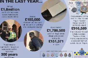 Beds Police seized huge sums of drugs and illicit cash last year