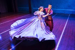 Annalene Beechey as Anna and Darren Lee as the King. Picture: Johan Persson