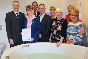 Dr Michael Steel, Chair of South Eastern Local Commissioning Group, Zoe Boreland, Head of Midwifery, SE Trust (retired), Dr David Glenn, David Robinson, Assistant Director, Woman and Acute Child Health, SE Trust, Fionnuala McCluskey, Tracey Magowan and Denise Boulter, Public Health Agency.