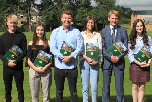 Friends' subject prize winners at A Level.'David Stewart (Digital Technology), Chloe Terris (French and Music), James Scott'(Business Studies), Maisy Sinclair (Art & Design and Software Systems Development), Jonathan Edwards (Chemistry, Mathematics and Further Maths) and Georgia Edmonds (Biology and Physics).
