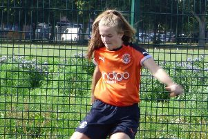 Erica Byron was in fine form for Luton Ladies