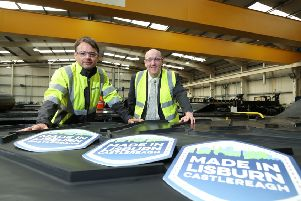 Launching the 2018 Made in Lisburn Castlereagh Showcase Event are Tim Monroe, Marketing Director at conveyor belt manufacturer Smiley Monroe and Chairman of Lisburn & Castlereagh City Council's Development Committee, Alderman William Leathem.  Made in Lisburn Castlereagh takes place Wednesday 24th October at Lagan Valley LeisurePlex from 10am to 3pm.  This free event is a great opportunity to see what is manufactured across the council area and to learn of the many jobs and apprenticeship opportunities.
