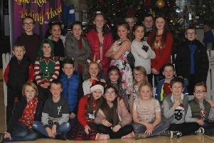 Pupils from Cranmore Integrated Primary School, Finaghy pictured at the opening night of the Lisnagarvey Operatic Society pantomime, 'Little Red Riding Hood' in the Island Hall, Lisburn on Saturday 1st December.