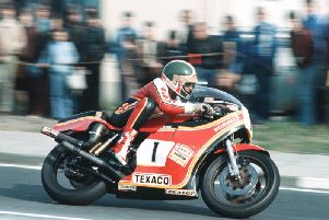 Tom Herron on the works Suzuki.