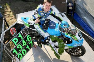 Dean Harrison set the outright lap record at the Ulster Grand Prix of 134.614mph in 2017.