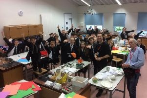 Four classes took part in the Brighton Science Festival workshop
