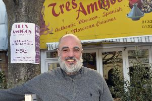 Ben Del Rosario the owner of Tres Amigos in Terminus Road, Eastbourne (Photo by Jon Rigby)