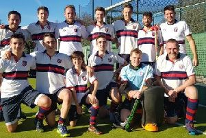 The Berko men's first team, pictured here, battled hard to defeat West Herts 4-3 in their tight derby clash on Saturday.
