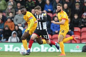 Jordan Turnbull and Aaron Pierre were central to another solid defensive showing from the Cobblers as Grimsby struggled to create many opportunities. Pictures: Pete Norton/Getty Images