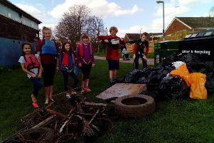 Members of the 2nd Warwick Sea Scouts at a previous clean-up event. Photo submitted.