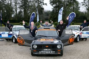 The organisers of the Wastewater Solutions UAC Easter Stages Rally have announced that they have received significant support from Antrim and Newtownabbey Borough Council.(L-R) Nicky Caughey; Mayor, Councillor Paul Michael; Drew Stewart; Philip Johnston and Keith White
