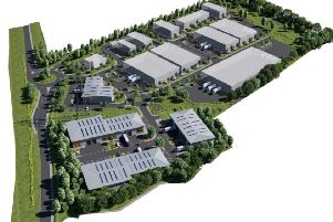 Indicative layout of the new business park
