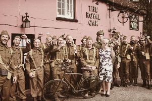 The group will be riding vintage bicycles worth 25 or less from The Pink Pub in Bognor Regis to Normandy, France