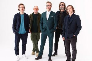 Photo credit: Graham MacIndoe L to R: Bryce Dessner, Scott Devendorf, Matt Berninger, Bryan Devendorf, Aaron Dessner