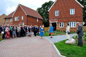 Princess Anne at the official opening of the new homes today