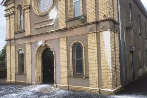 Glenavy Protestant Hall was targeted in a paint bomb attack
