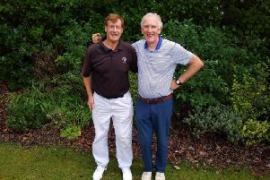 Mike Artles and Martin McNally winners of the Barrie Thomas Stableford Pairs at Whitefields Golf Club