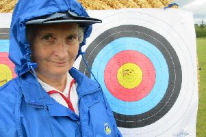 Iris Bingham after her 45m shoot
