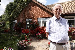 Retired nurseryman Michael Latter was owed a deposit he put down on these windows. Pictured at Job's Cottage Nursery, Durley.          Picture: Chris Moorhouse (020819-13)