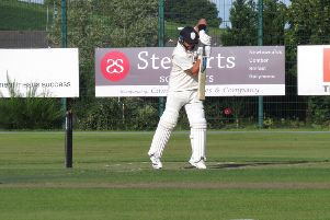 That's Darren Stevens there batting for Lisburn against North Down on Saturday