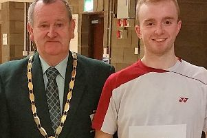 Ciaran Chambers will be hoping to meet Ulster Badminton's President Willie Martin after the Forza Ulster Premier Open