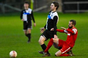 Defender Tom Lyne is back in training having been out since East Preston's Boxing Day win over rivals Arundel. Picture: Stephen Goodger