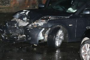 Police are looking for the driver who fled the scene of a collision in Worthing