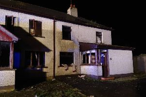 Fire crews dealt with a blaze in Dollingstown