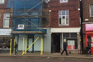 Vacant units in North Road, Lancing