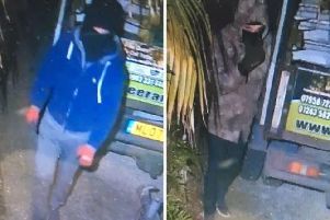 Do you recognise these people connected to Bognor tool theft? Picture provided by Sussex Police