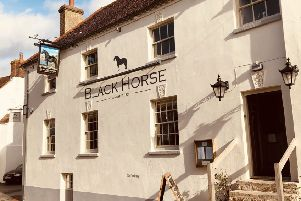 The newly refurbished Black Horse in Amberley well worth a visit...