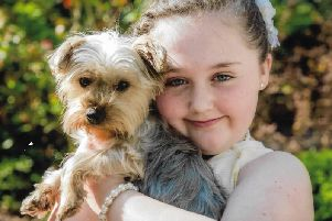 Maddy-leigh with her dog Trixie