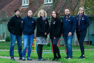 Jackie Firth (Blue badge Op's Supervisor), Charlotte Myling (Area Manager Blue), Alison Taylor (Chestnut Tree House), Penny Lander (Chestnut Tree House) Chris Hiver (Blue) and Rebecca Dayneswood (FQA Blue) ***Pic by David McHugh 07768 721637***