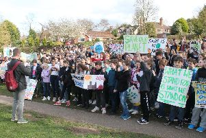 Climate change protest in Louth