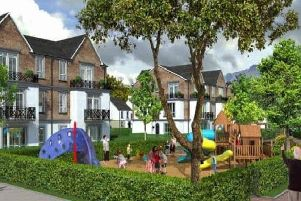 An artist's impression of the new retirement village at Belfast Road.