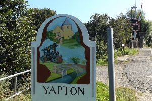 Yapton sign entering the village