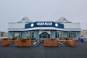 Deep Blue restaurant on South Parade Pier.