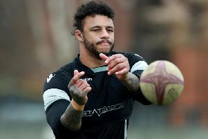 Courtney Lawes pictured in training on Wednesday