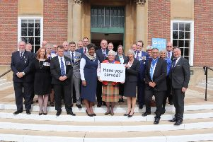 West Sussex county councillors outside County Hall calling for more support for Armed Forces personnel