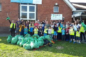 More than 75 volunteers attended the litter pick. Photo submitted.