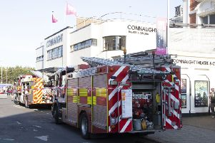 Firefighters at the Connaught Theatre