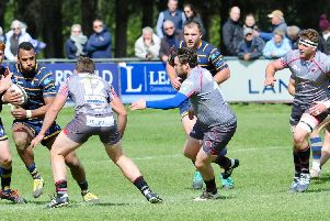 Action from Worthing Raiders v Taunton Titians