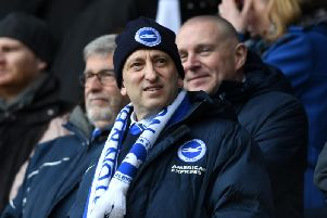 Brighton & Hove Albion chairman Tony Bloom. Picture courtesy of Getty Images
