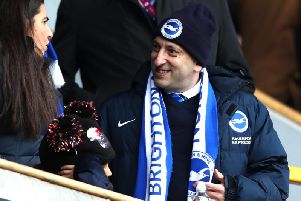 Brighton and Hove Albion chairman Tony Bloom. Picture courtesy of Getty Images.