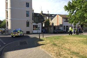 Ann Street in Worthing was closed off during the incident