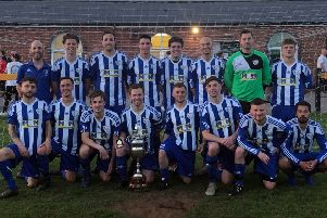 Bishops Itchington's Sunday side celebrate their league title. Pictures submitted