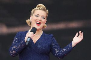 Sheridan Smith performing during the commemorations for the 75th Anniversary of the D-Day landings at Southsea Common in Portsmouth. Picture: Andrew Matthews/PA Wire